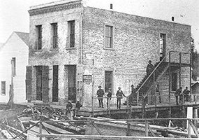 Photo of Two Story Brick Store and Banking House